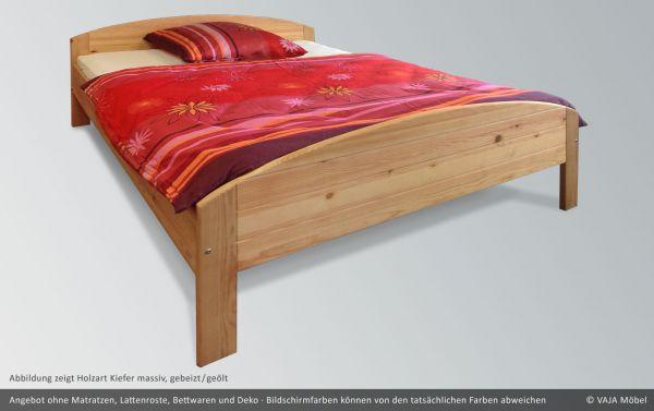 Vaja Doppelbett Jana Kiefer massiv gebeizt und geölt, 160 x 200 cm