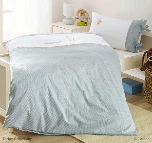 Lorena Mako-Batist Bettwäsche Kinderbettwäsche Garnitur mit Reißverschluss Kroko