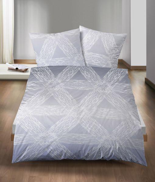 Biberna Winter Soft Seersucker Bettwäsche Streifenmix Dreieck 323608