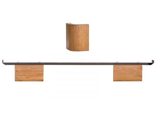 Hasena Oak-Line Füße Airo 20 cm, Eiche natur, gebürstet, geölt