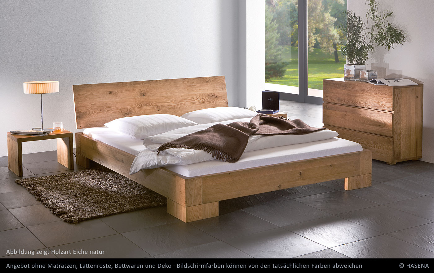 hasena massivholz bett oak line vaco eiche betten prinz gmbh. Black Bedroom Furniture Sets. Home Design Ideas