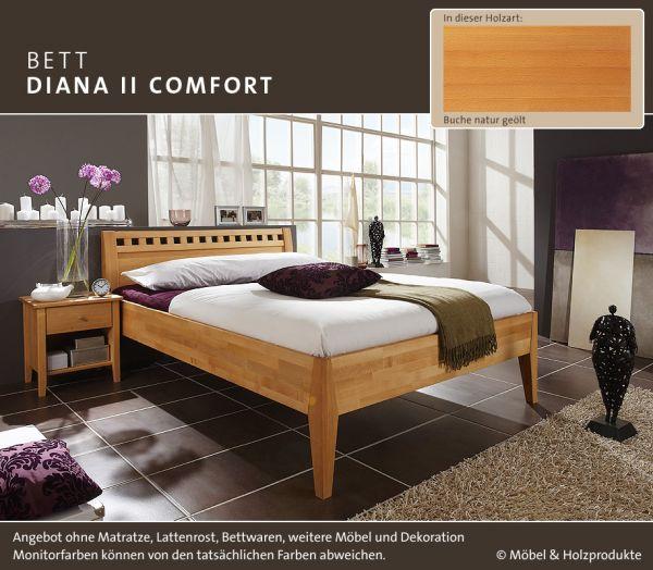 M&H Massivholz-Bett Diana II Comfort Buche natur geölt