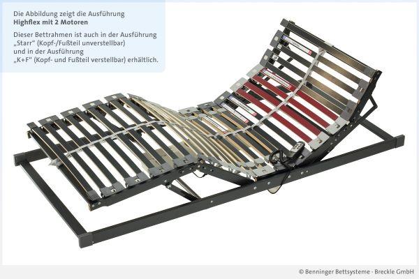 Benninger Bettsysteme Lattenrost Highflex mit 2 Motoren
