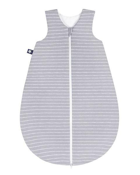 Zöllner Jersey Schlafsack gefüttert Grey Stripes