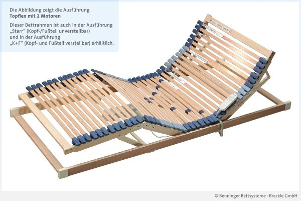 Benninger Bettsysteme Lattenrost Topflex mit 2 Motoren