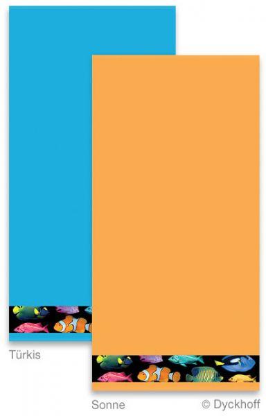 Dyckhoff Handtuch Fische Digitaldruck, Türkis 50 x 100 cm