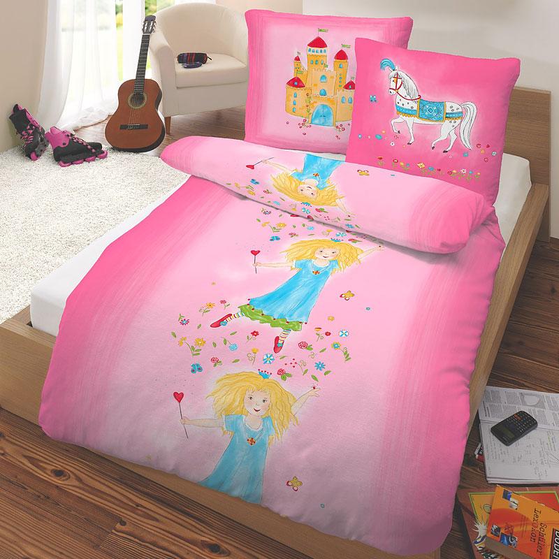 prinz biber kinderbettw sche prinzessin 135 x 200 80 x. Black Bedroom Furniture Sets. Home Design Ideas