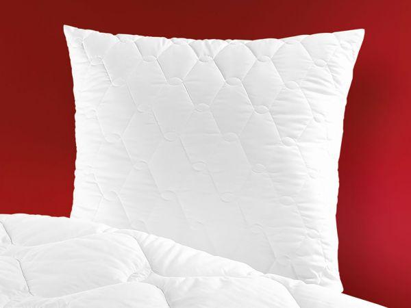 Schlaf-Gut Kissen, gesteppt mit Reißverschluss Lyocell (Tencel)