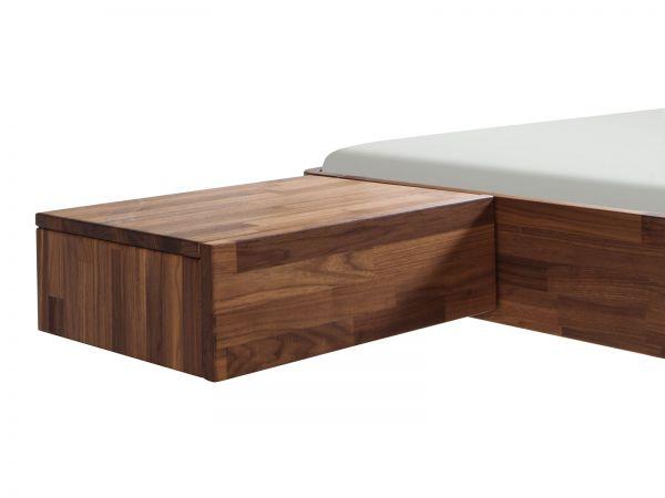 Moderno Nachttisch Caja, Nussbaum, geölt