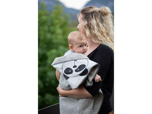 Baby-Kapuzendecke Juwel Pandabär 7122