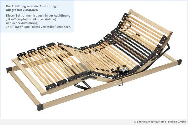 Benninger Bettsysteme Lattenrost Allegro mit 2 Motoren