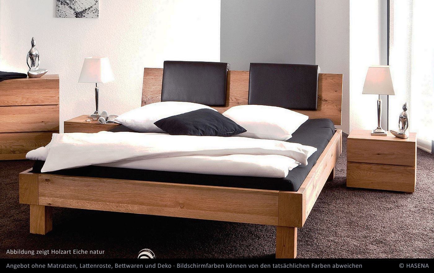 hasena massivholz bett oak line noro eiche betten prinz gmbh. Black Bedroom Furniture Sets. Home Design Ideas