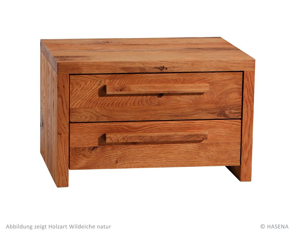 hasena oak line wild nachttisch cera betten prinz gmbh. Black Bedroom Furniture Sets. Home Design Ideas