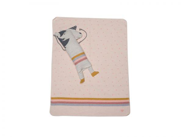 Einhorn Puppe mit Decke Juwel 7116