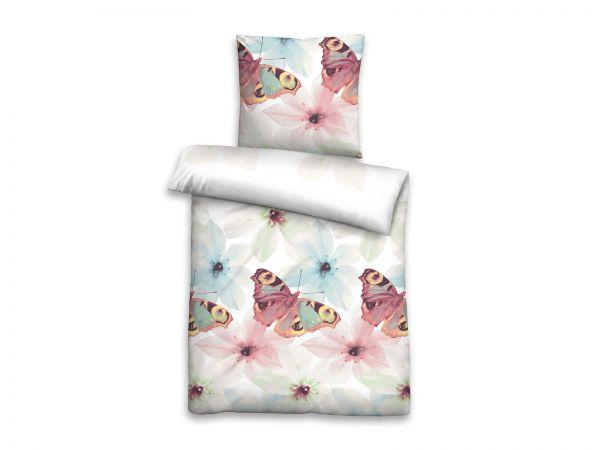 Castell Baumwoll Seersucker Bettwäsche Schmetterling 20701 Betten