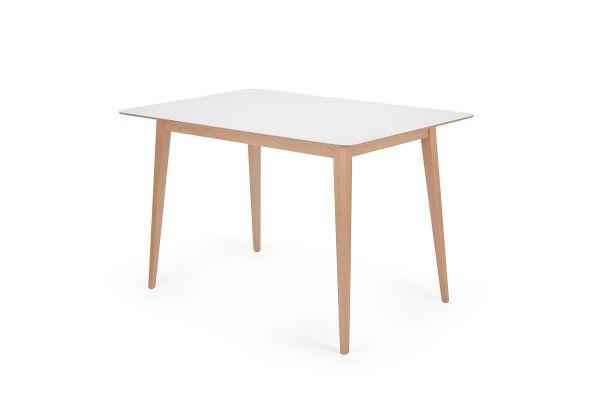 Garageeight Tisch Norfolk Weiß 120 x 80 x 75 cm