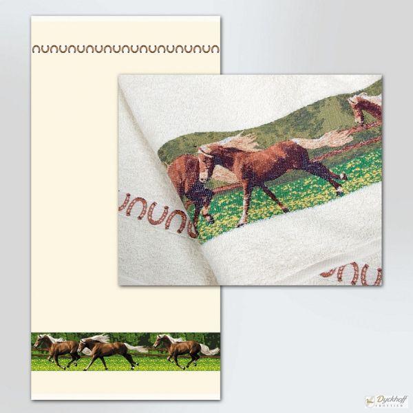 Dyckhoff Duschtuch Pferdewiese, Natur 70 x 140 cm
