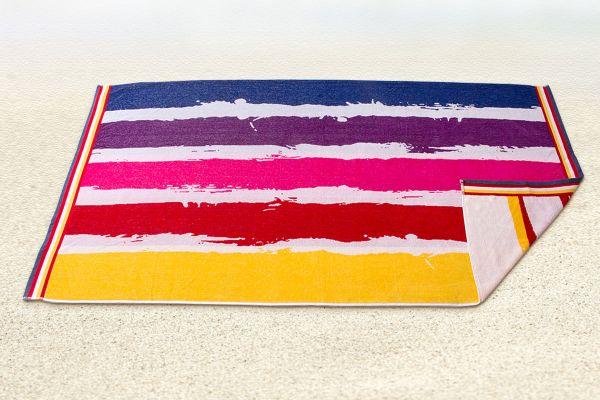 Prinz Strandtuch bunte Streifen, 90 x 180 cm