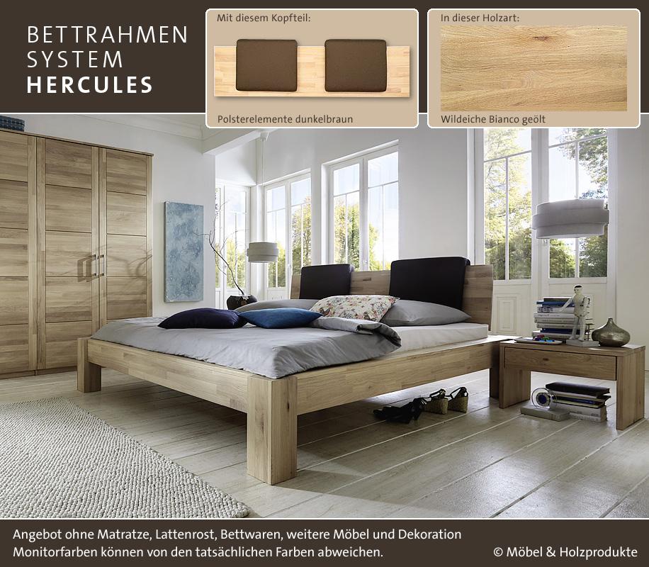 m h massivholz bett hercules wildeiche bianco i betten prinz gmbh. Black Bedroom Furniture Sets. Home Design Ideas
