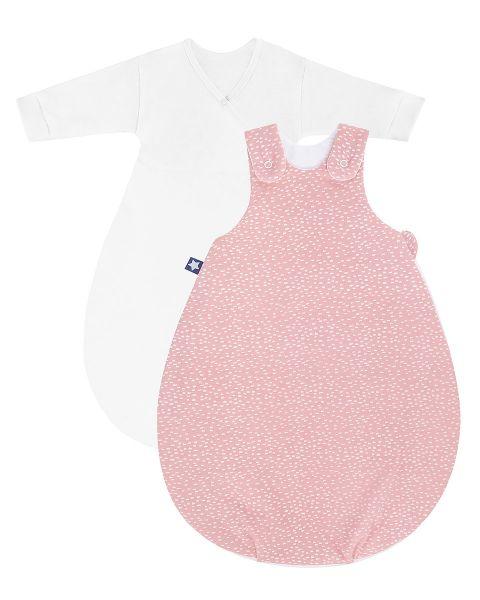 Zöllner Jersey Babyschlafsack Cosy Tiny Squares Blush