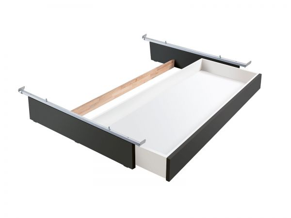 Lovie-Box mit 1 Schublade, Buche anthracit deckend, lackiert
