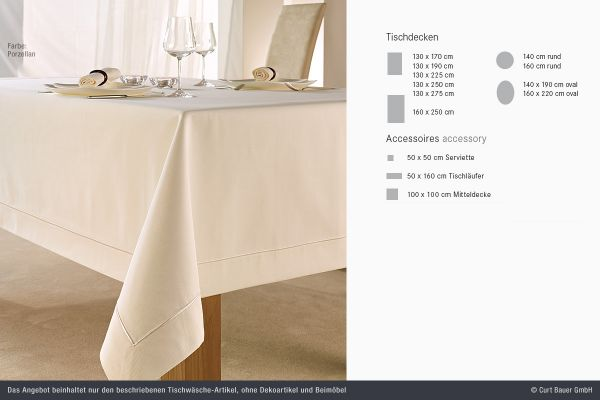 Curt Bauer Damast-Tischwäsche Exzellent 2323