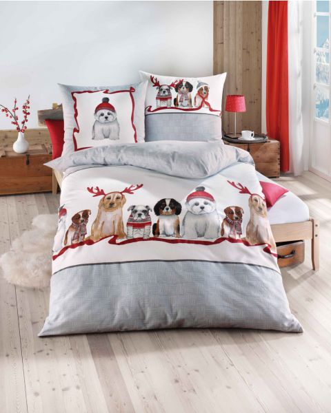 Kaeppel Feinbiber Bettwäsche Garnitur Dogs Dessin 766