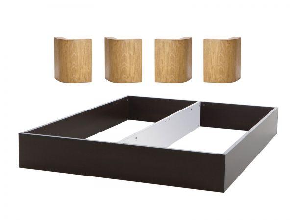 Oak-Bianco Practico-Ron Box , Breite 160 cm, Farbe Anthracit