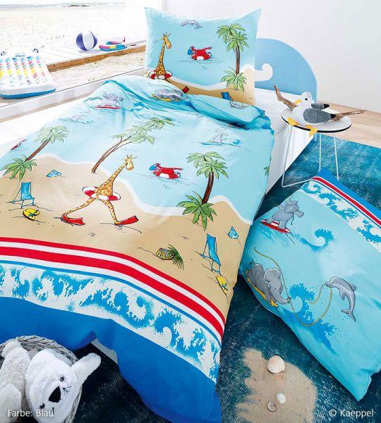 Kaeppel Feinbiber Kinderbettwäsche Beach Fun 583