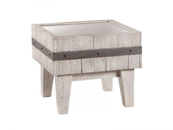 Nachttisch Butch, Akazie Vintage white