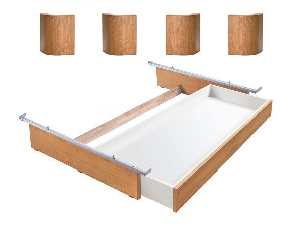 Oak-Line Lovie-Ron Box, 1 Schublade, Eiche natur, gebürstet, geölt