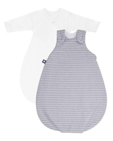 Zöllner Jersey Babyschlafsack Cosy Grey Stripes