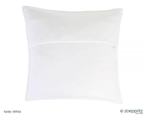 Zoeppritz Soft-Fleece Kissenhülle mit Häkelrand 703291
