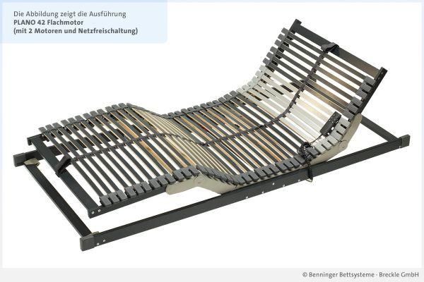 Benninger Bettsysteme Bettrahmen Plano 42 mit 2 Flachmotoren und Netzfreischaltung