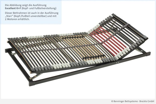 Benninger Bettsysteme Lattenrost Excellent mit Kopf- und Fußteilverstellung