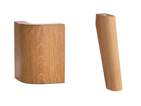 Hasena Oak-Line Füße Masito, Eiche natur, gebürstet, geölt