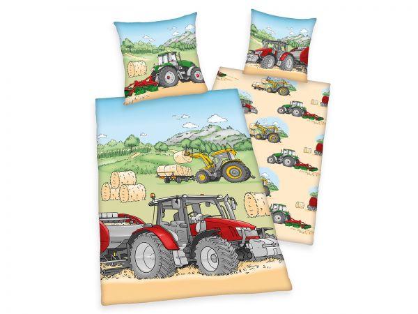 baby best Traktor, Flanell, GOTS