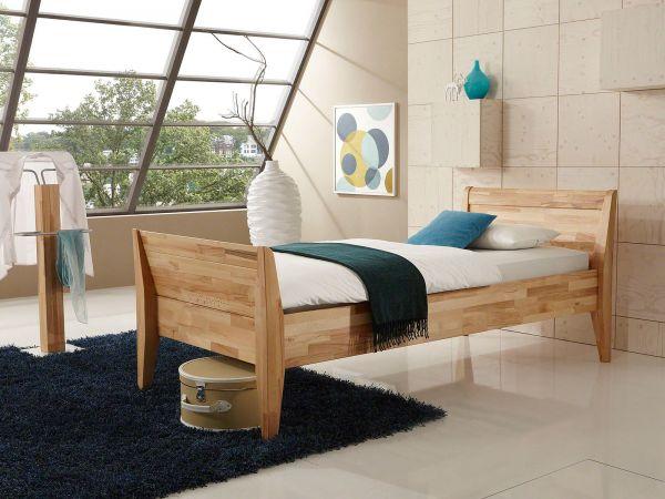 Dico Komfortbett Como 450.00, Kernbuche geölt, Lieferumfang Bett ohne Lattenrost, Matratze, Topper, Beimöbel, Bettwaren und Deko