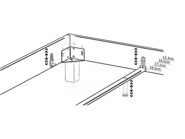 Midtraver-move für verstellbare Einlegetiefe