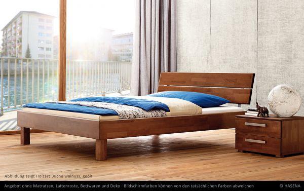 Hasena Massivholzbett Wood-Line Premium 18 Füße Cantu Kopfteil Duetto