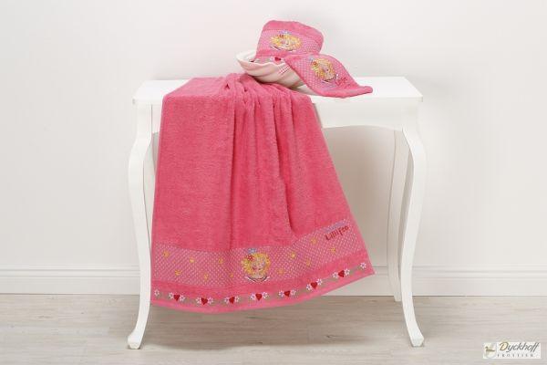 Dyckhoff Kinderfrottierserie Waschhandschuh Lillifee, Pink 17 x 23 cm