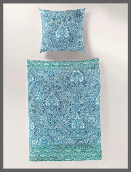 Bierbaum Mako Satin Bettwäsche Orient 3384 Blau Betten Prinz Gmbh