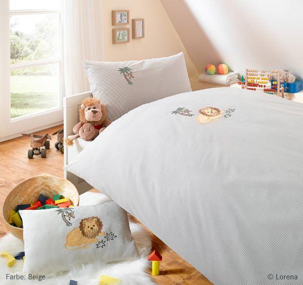 Lorena Mako-Batist Bettwäsche Kinderbettwäsche Garnitur mit Reißverschluss Löwe