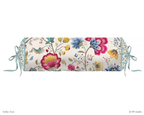 PIP Studio Perkal Nackenrolle Floral Fantasy, Ecru 22 x 70 cm