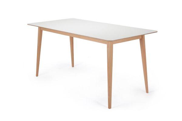 Garageeight Tisch Norfolk Weiß 160 x 80 x 75 cm