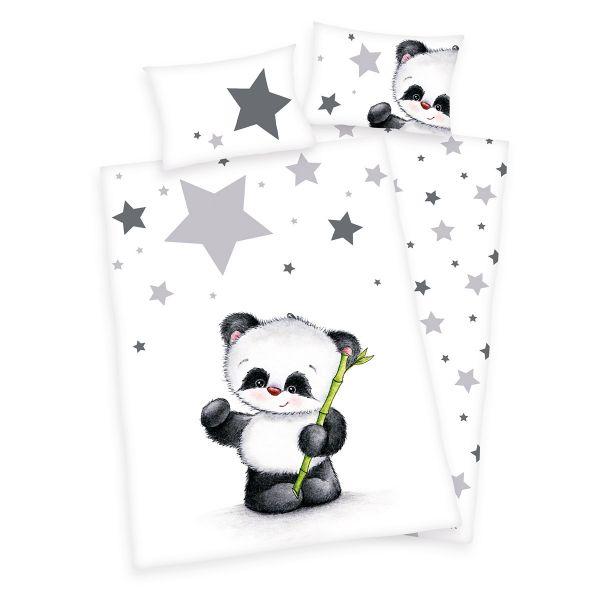 Herding Renforcé Kinder-Wendebettwäsche Jana Panda 100 x 135 cm