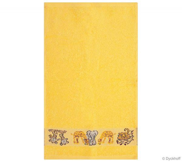 Dyckhoff Kinderfrottierserie Gästetuch Affe, Gelb 30 x 50 cm