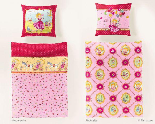 Bierbaum Renforcé Kinderbettwäsche Garnitur Lillifee GA2369, Rosa 135 x 200 + 80 x 80 cm