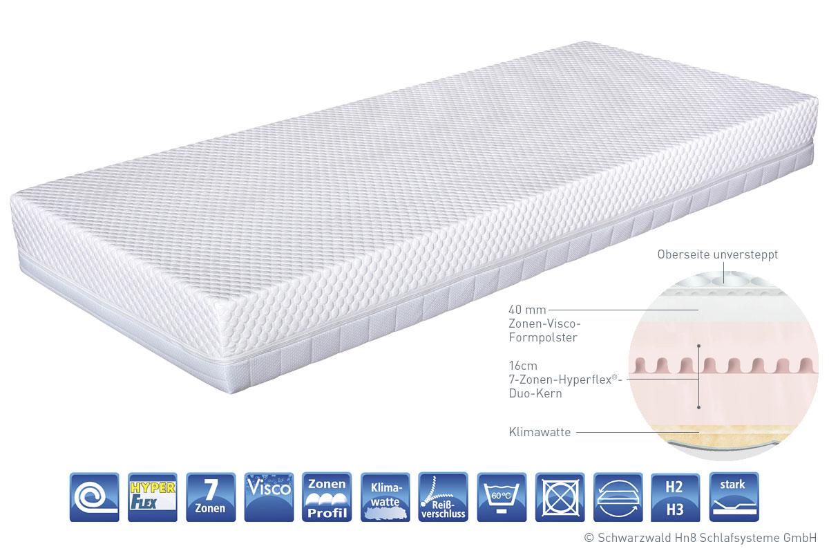 Kaltschaum Matratze 120x200 cm Visco Premium Komfort Rollmatratze