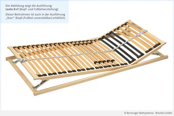 Benninger Bettsysteme Bettrahmen Buche-Vollholzrahmen Lento mit Kopf- und Fußteilverstellung